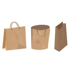 Set of paper bag for food shop and supermarket vector image