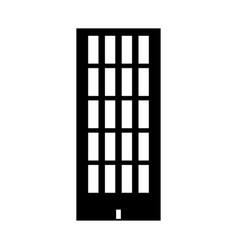 sky tower building black color icon vector image vector image