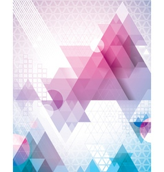 Techno Triangles Magenta vector image