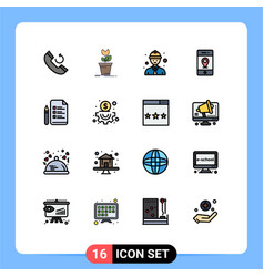 16 creative icons modern signs and symbols pen vector