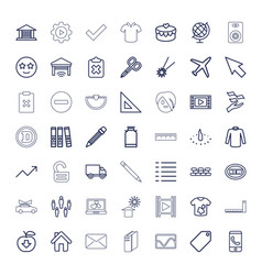 49 web icons vector