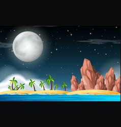 A deserted island scene vector