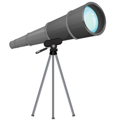 A telescope on white background vector