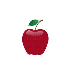 apple fruit logo design template vector image