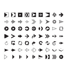 arrows collection modern graphic direction signs vector image