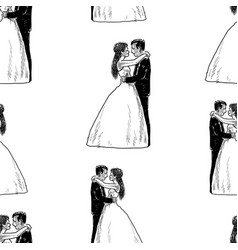 background happy newlyweds vector image