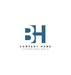 Bh minimal logo - logo template vector