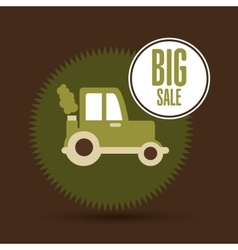 Big sale food healthy products farm vector