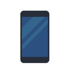Black smartphone display blue device vector