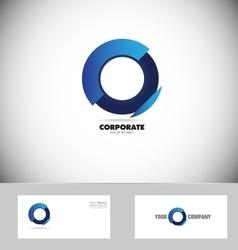 Blue circle logo vector