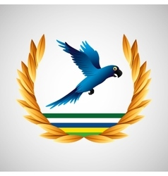 blue macaw brazil olympic games emblem vector image