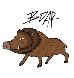 Boar wild pig cartoon vector