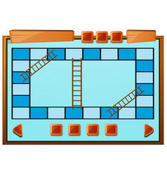 Boardgame template in blue color vector
