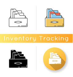 Bookkeeping card system icon paper documents vector