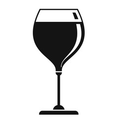 brandy wineglass icon simple style vector image