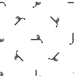 burning match pattern seamless black vector image