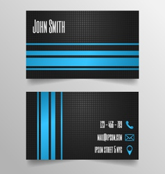 Business card template - modern blue and grey vector image