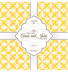 card template with french yellow pattern vector image