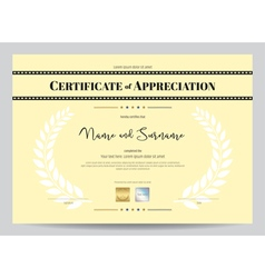 Certificate appreciation template with movie vector