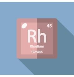 Chemical element Rhodium Flat vector