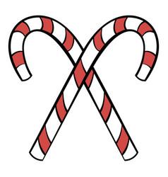 Christmas candy icon cartoon vector