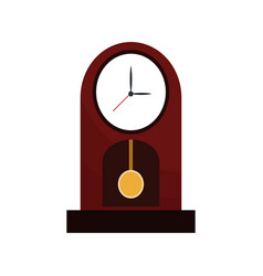 Clock time watch pendulum vector