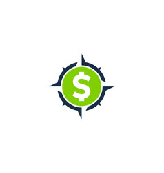 compass money logo icon design vector image
