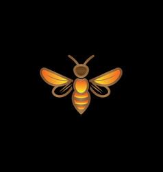 Creative bumble wasp bee logo vector