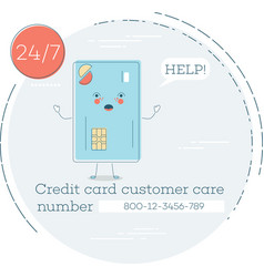 Credit card customer care concept vector