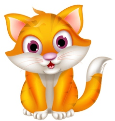 Cute cat cartoon sitting vector