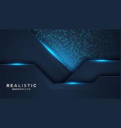 Dark abstract background with dark blue overlap vector