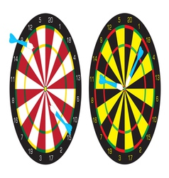 Dart boards and darts vector image