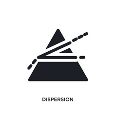 Dispersion isolated icon simple element from vector