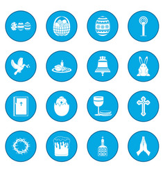 easter black icon blue vector image