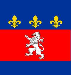 Flag of lyon in auvergne-rhone-alpes region in vector