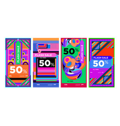 Flash sale 50 discount banner for web and social vector