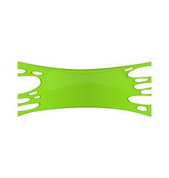 Frame of green sticky slime vector