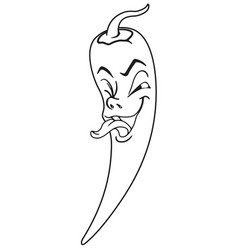 fresh pepper cartoon vector image