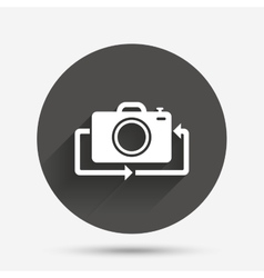 Front photo camera sign icon Change symbol vector image