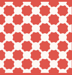 geometric seamless pattern with red curved shapes vector image