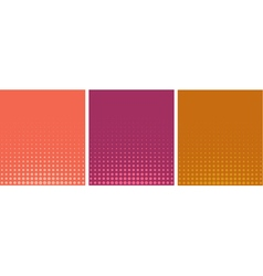 Graphical pink orange gradient in halftone style vector