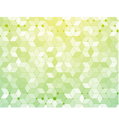 green medical molecules connection background vector image