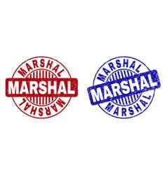 Grunge marshal textured round stamp seals vector