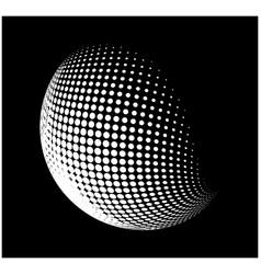 halftone globe sphere logo symbol icon design vector image