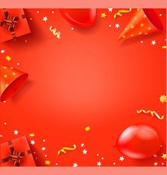 Happy birthday red banner with copy space vector