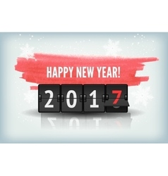 Happy New Year blue background with snowflakesand vector