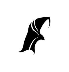 Hijab women black silhouette icons vector