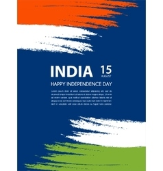 indian independence day 15th august vector image