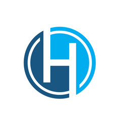 Initial letter h with circle logo vector