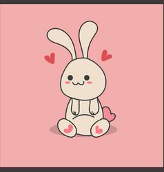 kawaii lovely rabbit vector image